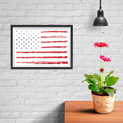 Ezposterprints - Textured Worn Out USA Flag Poster - 12x08 ambiance display photo sample