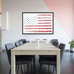 Ezposterprints - Textured Worn Out USA Flag Poster - 48x32 ambiance display photo sample