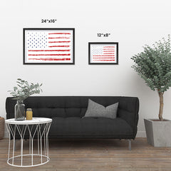 Ezposterprints - Textured Worn Out USA Flag Poster ambiance display photo sample