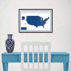 Ezposterprints - United States Road Map at a Glance Poster - 18x12 ambiance display photo sample