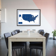 Ezposterprints - United States Road Map at a Glance Poster - 48x32 ambiance display photo sample