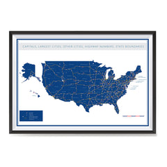 Ezposterprints - United States Road Map at a Glance Poster ambiance display photo sample