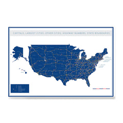 Ezposterprints - United States Road Map at a Glance Poster