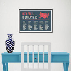 Ezposterprints - The US Map With 50 States Names - 18x12 ambiance display photo sample