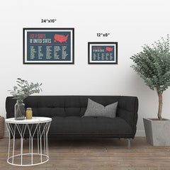 Ezposterprints - The US Map With 50 States Names ambiance display photo sample
