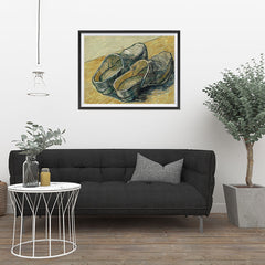 Ezposterprints - A Pair Of Leather Clogs | Van Gogh Art Reproduction - 32x24 ambiance display photo sample