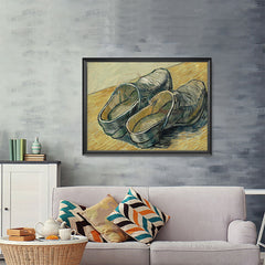 Ezposterprints - A Pair Of Leather Clogs | Van Gogh Art Reproduction - 48x36 ambiance display photo sample