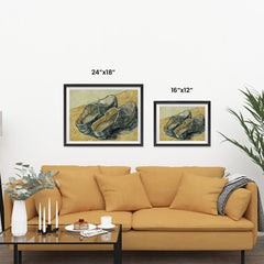 Ezposterprints - A Pair Of Leather Clogs | Van Gogh Art Reproduction ambiance display photo sample