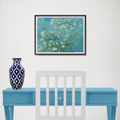 Ezposterprints - Almond Blossom | Van Gogh Art Reproduction - 16x12 ambiance display photo sample