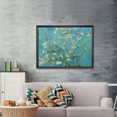 Ezposterprints - Almond Blossom | Van Gogh Art Reproduction - 48x36 ambiance display photo sample