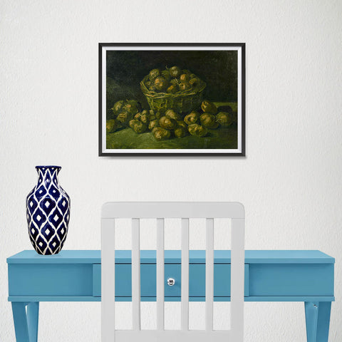 Ezposterprints - Basket Of Potatoes | Van Gogh Art Reproduction - 16x12 ambiance display photo sample