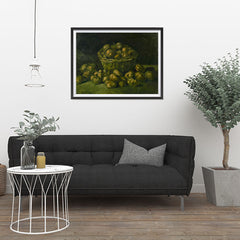 Ezposterprints - Basket Of Potatoes | Van Gogh Art Reproduction - 32x24 ambiance display photo sample