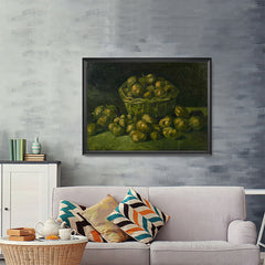 Ezposterprints - Basket Of Potatoes | Van Gogh Art Reproduction - 48x36 ambiance display photo sample