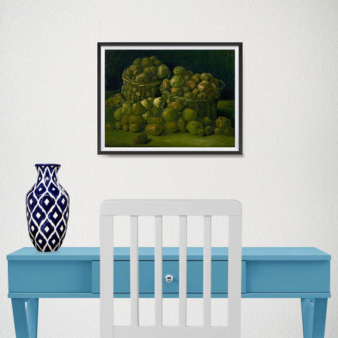 Ezposterprints - Baskets Of Potatoes | Van Gogh Art Reproduction - 16x12 ambiance display photo sample