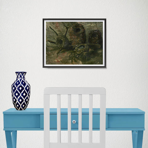 Ezposterprints - Birds Nests | Van Gogh Art Reproduction - 16x12 ambiance display photo sample