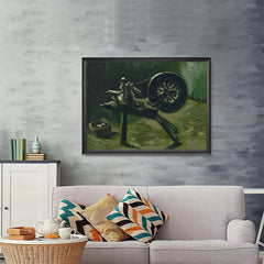 Ezposterprints - Bobbin Winder | Van Gogh Art Reproduction - 48x36 ambiance display photo sample