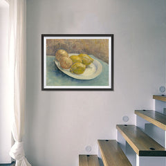 Ezposterprints - Dish With Citrus Fruit | Van Gogh Art Reproduction - 24x18 ambiance display photo sample