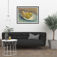 Ezposterprints - Dish With Citrus Fruit | Van Gogh Art Reproduction - 32x24 ambiance display photo sample