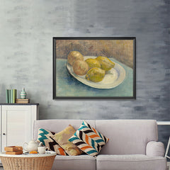 Ezposterprints - Dish With Citrus Fruit | Van Gogh Art Reproduction - 48x36 ambiance display photo sample