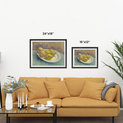 Ezposterprints - Dish With Citrus Fruit | Van Gogh Art Reproduction ambiance display photo sample