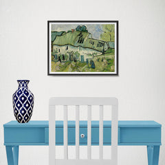 Ezposterprints - Farmhouse | Van Gogh Art Reproduction - 16x12 ambiance display photo sample