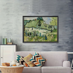 Ezposterprints - Farmhouse | Van Gogh Art Reproduction - 48x36 ambiance display photo sample