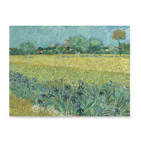 Ezposterprints - Field With Irises Near Arles | Van Gogh Art Reproduction