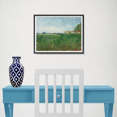 Ezposterprints - Field With Poppies | Van Gogh Art Reproduction - 16x12 ambiance display photo sample