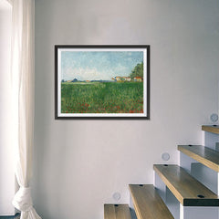 Ezposterprints - Field With Poppies | Van Gogh Art Reproduction - 24x18 ambiance display photo sample
