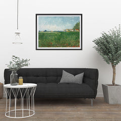 Ezposterprints - Field With Poppies | Van Gogh Art Reproduction - 32x24 ambiance display photo sample