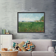 Ezposterprints - Field With Poppies | Van Gogh Art Reproduction - 48x36 ambiance display photo sample