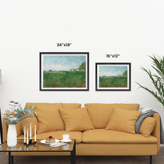 Ezposterprints - Field With Poppies | Van Gogh Art Reproduction ambiance display photo sample