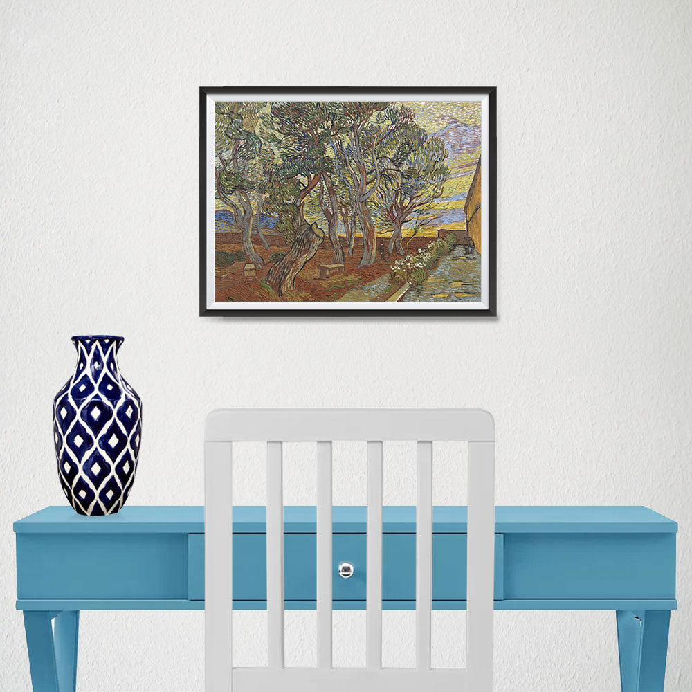 Ezposterprints - Garden Of The Asylum | Van Gogh Art Reproduction - 16x12 ambiance display photo sample