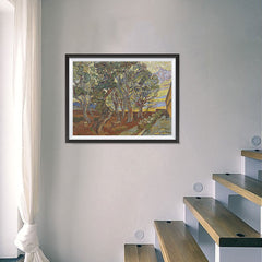 Ezposterprints - Garden Of The Asylum | Van Gogh Art Reproduction - 24x18 ambiance display photo sample