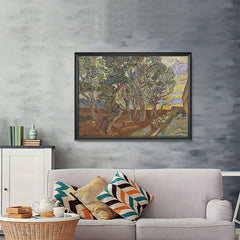 Ezposterprints - Garden Of The Asylum | Van Gogh Art Reproduction - 48x36 ambiance display photo sample