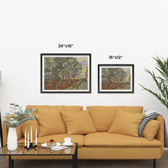 Ezposterprints - Garden Of The Asylum | Van Gogh Art Reproduction ambiance display photo sample