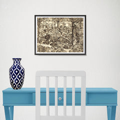 Ezposterprints - Garden Of The Hospital | Van Gogh Art Reproduction - 16x12 ambiance display photo sample