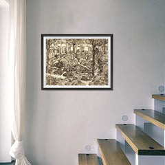 Ezposterprints - Garden Of The Hospital | Van Gogh Art Reproduction - 24x18 ambiance display photo sample