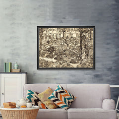 Ezposterprints - Garden Of The Hospital | Van Gogh Art Reproduction - 48x36 ambiance display photo sample