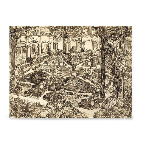 Ezposterprints - Garden Of The Hospital | Van Gogh Art Reproduction