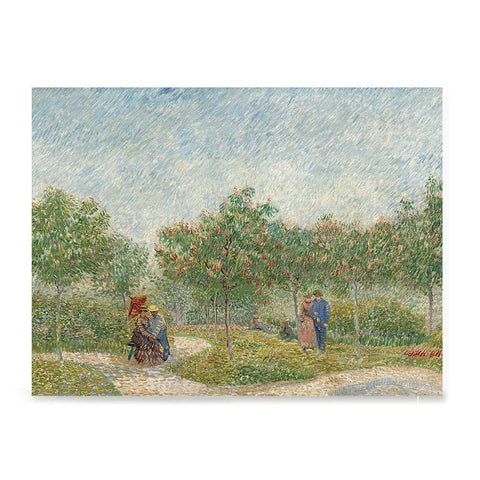 Ezposterprints - Garden With Courting Couples | Van Gogh Art Reproduction