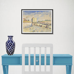 Ezposterprints - Gate In The Paris Ramparts | Van Gogh Art Reproduction - 16x12 ambiance display photo sample