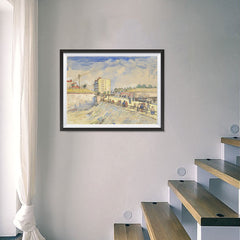 Ezposterprints - Gate In The Paris Ramparts | Van Gogh Art Reproduction - 24x18 ambiance display photo sample