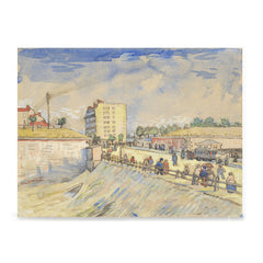 Ezposterprints - Gate In The Paris Ramparts | Van Gogh Art Reproduction