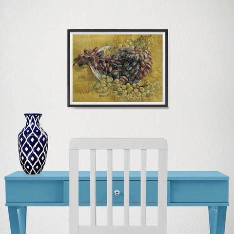 Ezposterprints - Grapes | Van Gogh Art Reproduction - 16x12 ambiance display photo sample