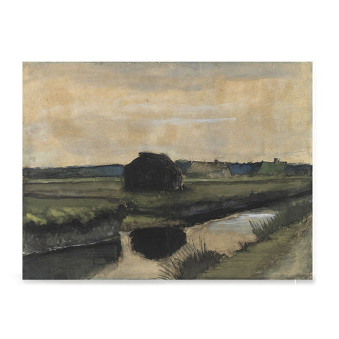 Ezposterprints - Landscape With A Stack Of Peat | Van Gogh Art Reproduction