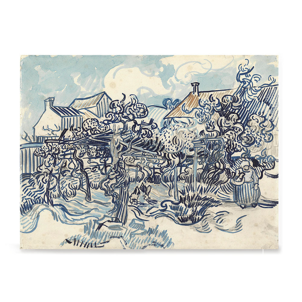 Ezposterprints - Old Vineyard With Peasant Woman | Van Gogh Art Reproduction