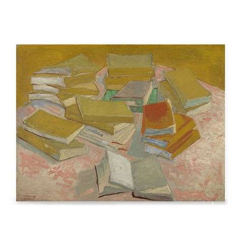 Ezposterprints - Piles Of French Novels | Van Gogh Art Reproduction
