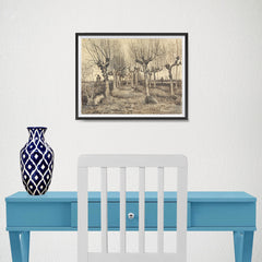 Ezposterprints - Pollard Birches | Van Gogh Art Reproduction - 16x12 ambiance display photo sample