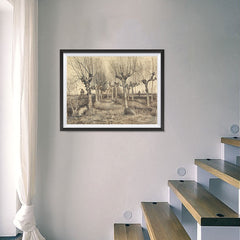 Ezposterprints - Pollard Birches | Van Gogh Art Reproduction - 24x18 ambiance display photo sample